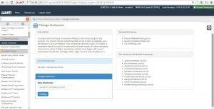 Create a new Account Account Creation Status: failed , alterando o hostname