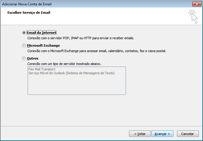configurar o outlook 2007