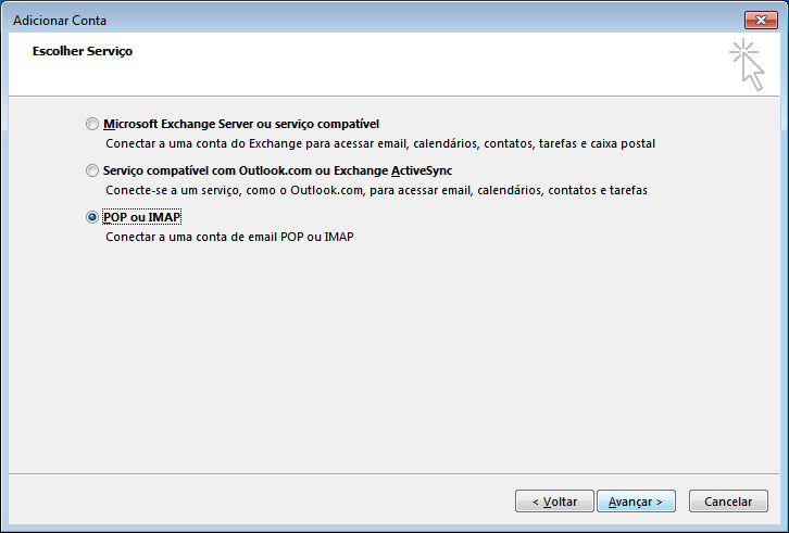 configurar o outlook 2013