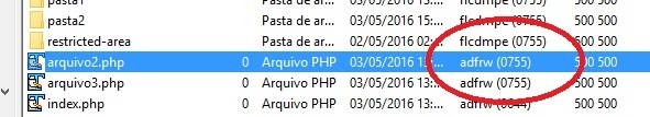 chmod permissoes arquivos filezilla 6
