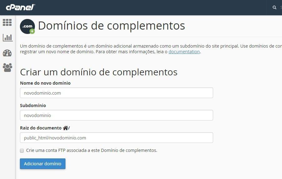 como adicionar um dominio 3