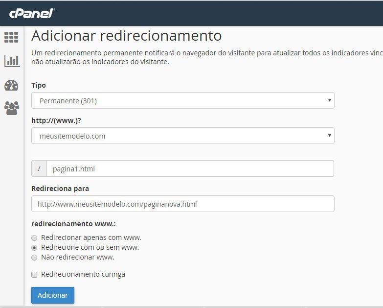 como redirecionar um dominio 4