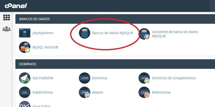 criar banco de dados mysql