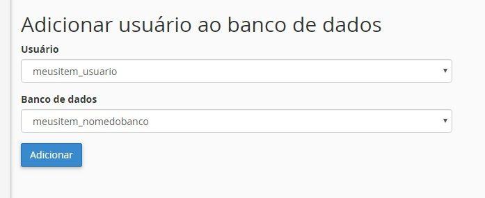 adicionar usuario ao banco