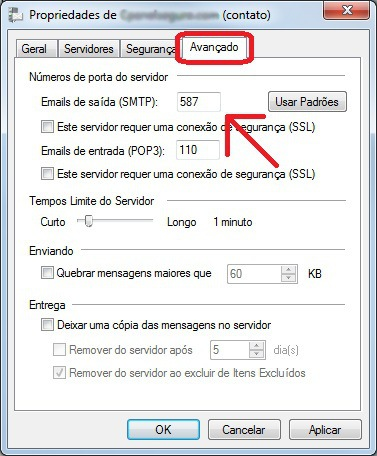 windows live mail smtp porta 587
