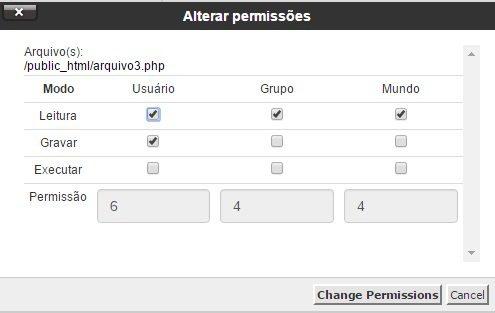permissoes de arquivos chmod 5