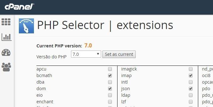 alterar versao do php no cpanel 4