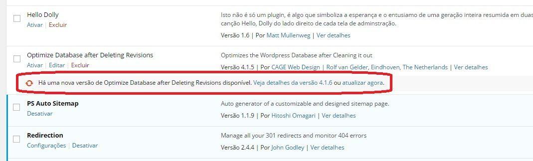 atualizar plugin wordpress 2