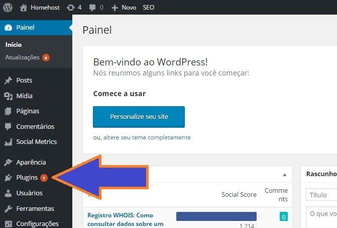 atualizar plugin wordpress