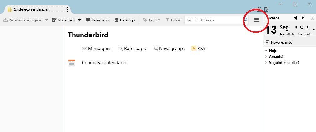 configurar email no thunderbird 1