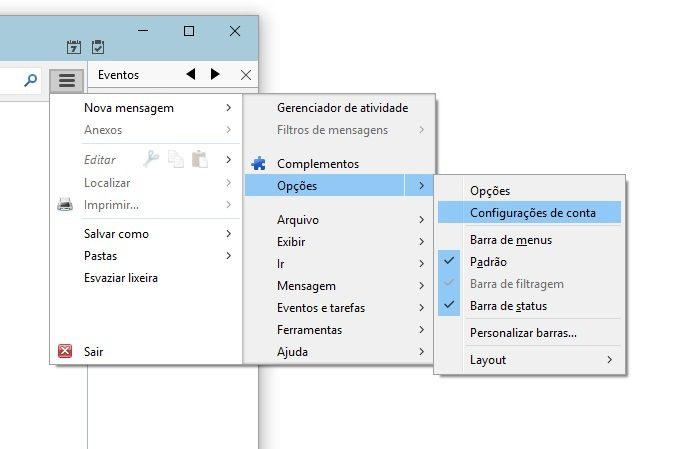 configurar email no thunderbird 2
