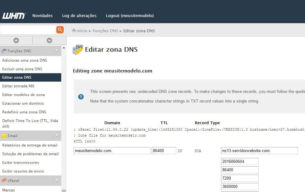 customizar servidor dns revenda de hospedagem 2