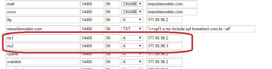 customizar servidor dns revenda de hospedagem 3