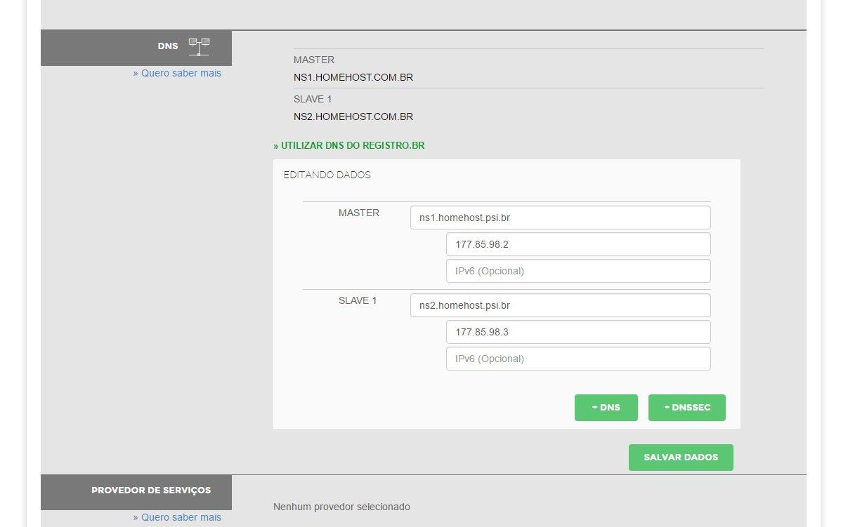 customizar servidor dns revenda de hospedagem registro br 10