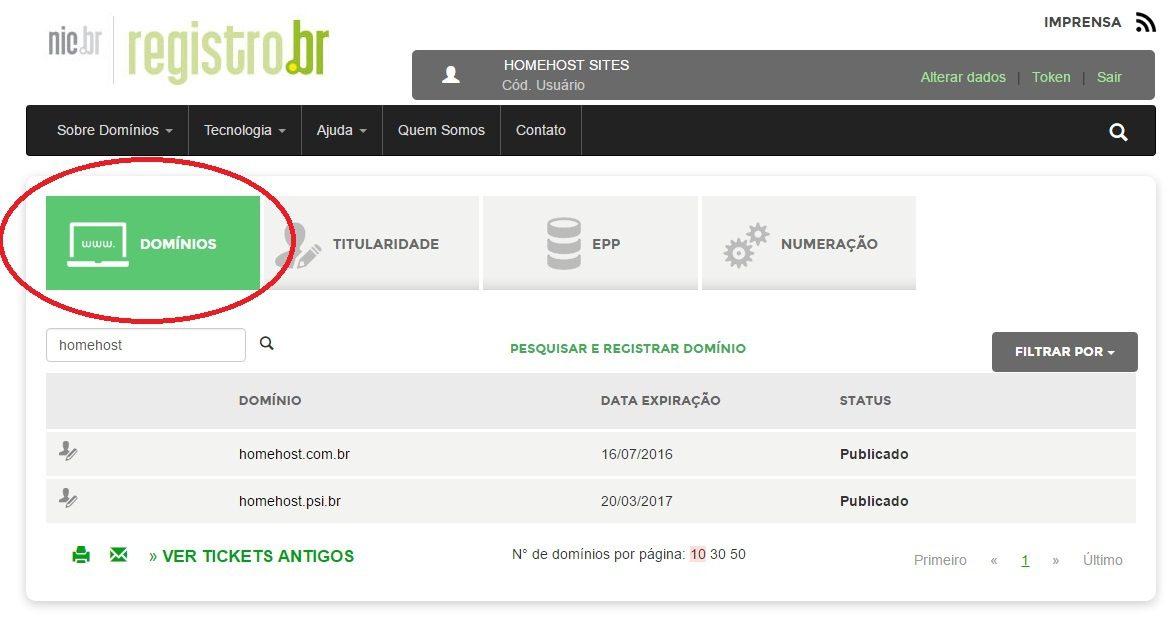 customizar servidor dns revenda de hospedagem registro br 8