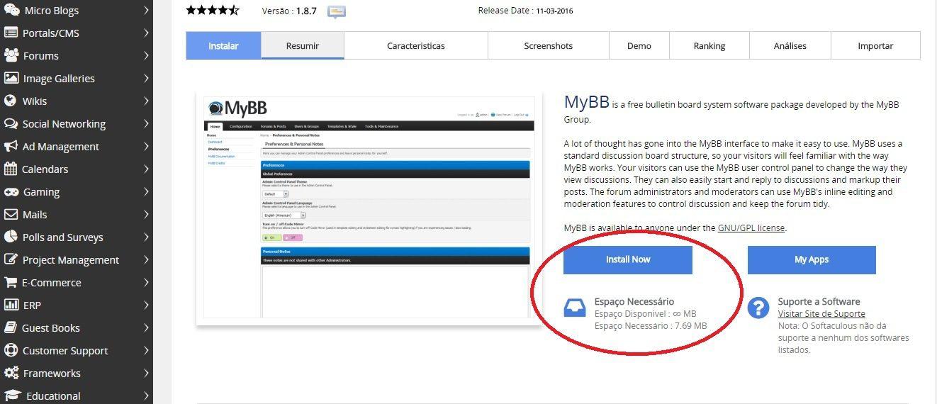 como instalar o mybb