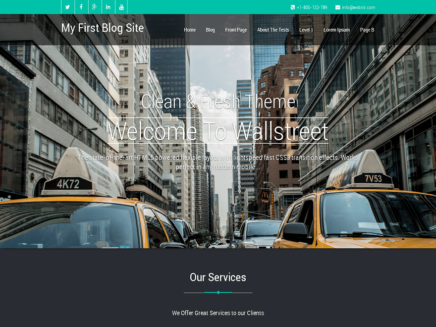 Tema wordpress Wallstreet