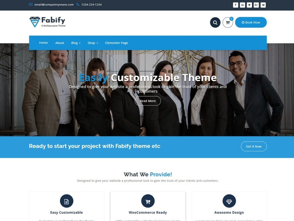 Tema wordpress fabify