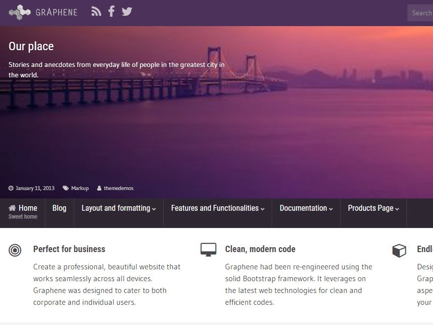 Tema wordpress graphene