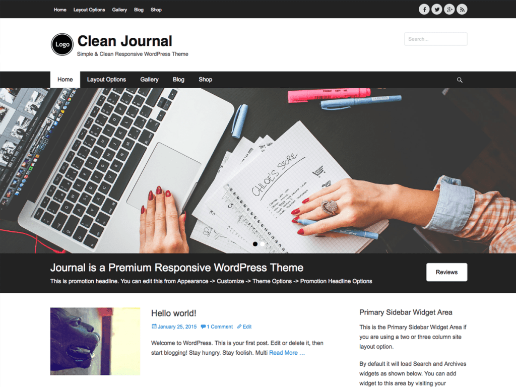 Tema wordpress clean journal