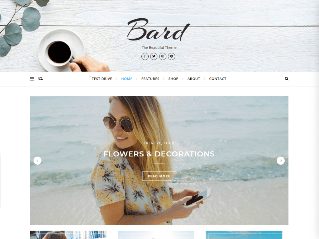 Tema wordpress bard