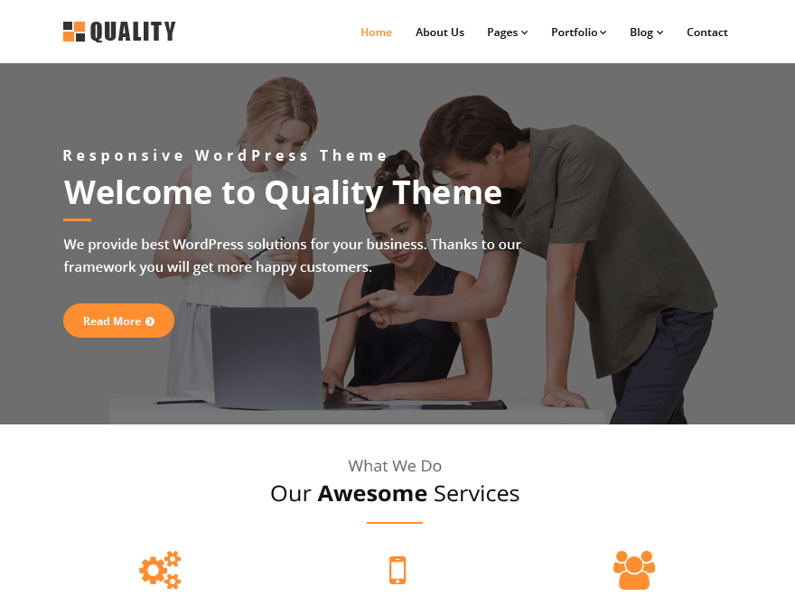 Tema wordpress quality orange
