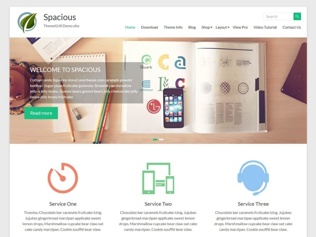Tema wordpress spacious