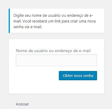 Caixa de login no wordpress