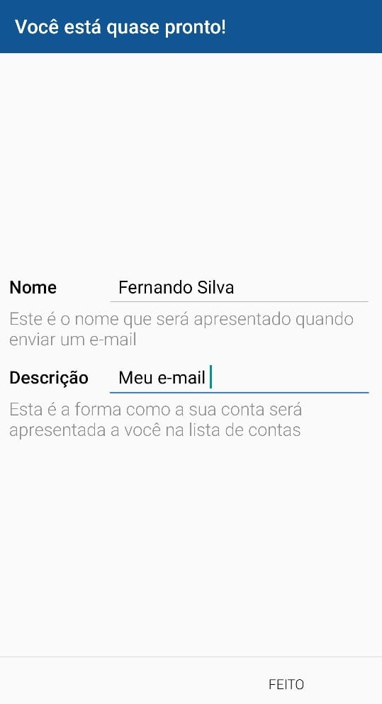 descricao do email