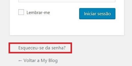 resetar senha do WordPress