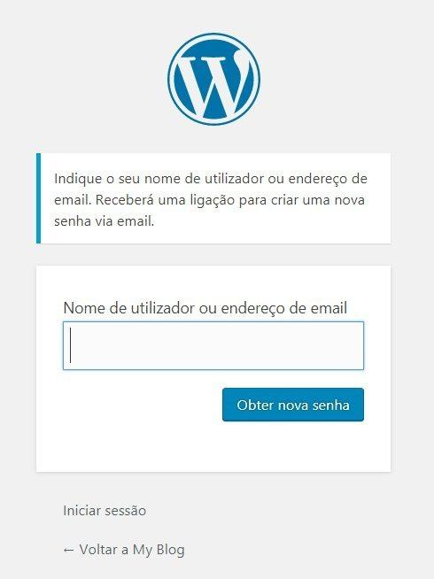 Recuperar Senha WordPress