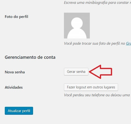 Gerar Nova Senha WordPress