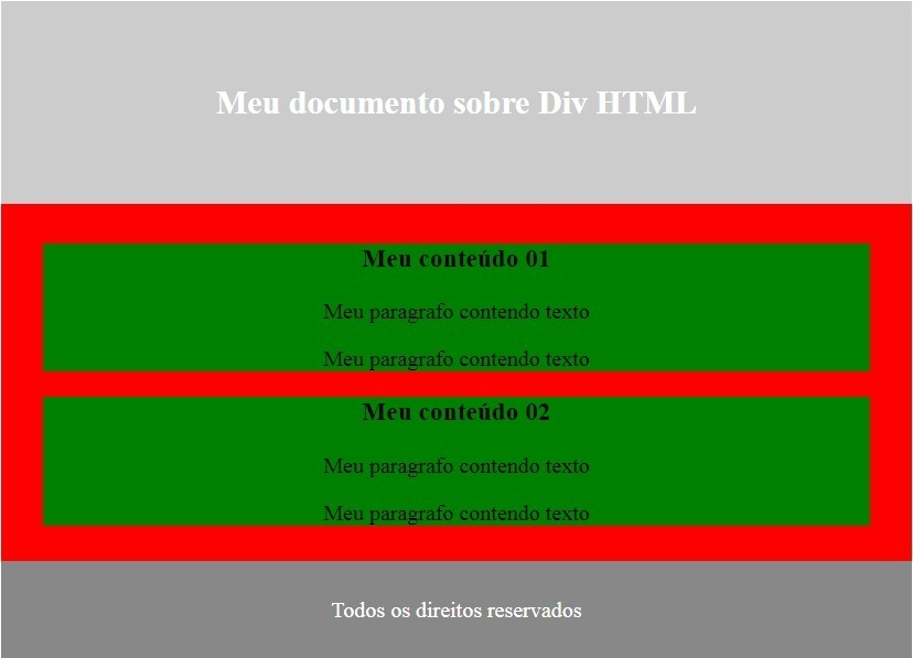 Div HTML exemplo 01