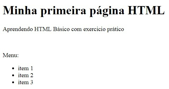 Exemplo 01 de HTML Básico