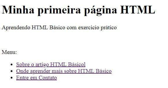Finalizando nossa página de HTML Básico