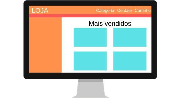 Exemplo de criar site profissional E-Commerce
