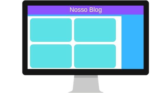 Exemplo do template de um blog