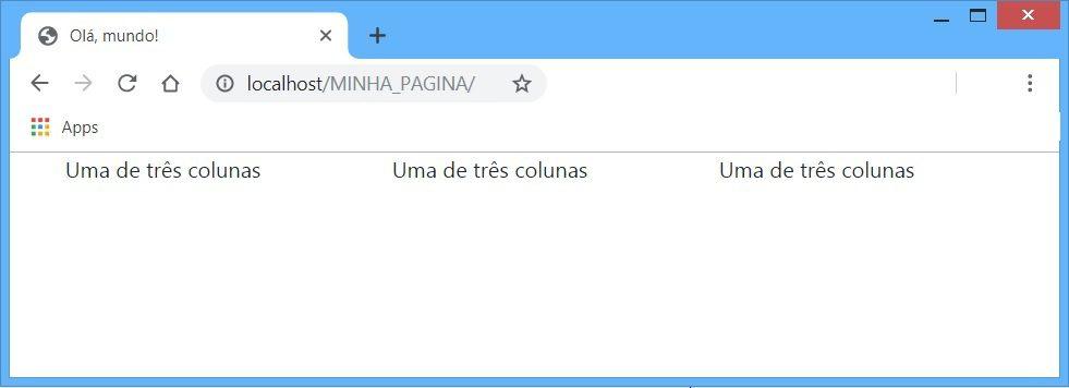 Exemplo de colunas responsivas com bootstrap