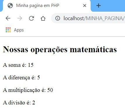 Exemplo Prático 01 de aplicações matemáticas com PHP