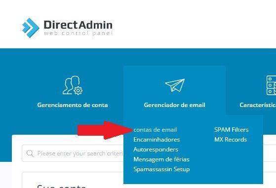 Criando uma conta de e-mail com domínio próprio através do DirectAdmin