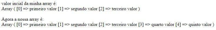 Exemplo de adicionar valor dinamicamente ao vetor ja existente