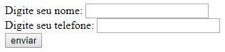 Exemplo de PHP Isset no formulário HTML