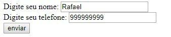 Exemplo de preenchimento do formulário