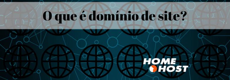 O que é domínio de site?