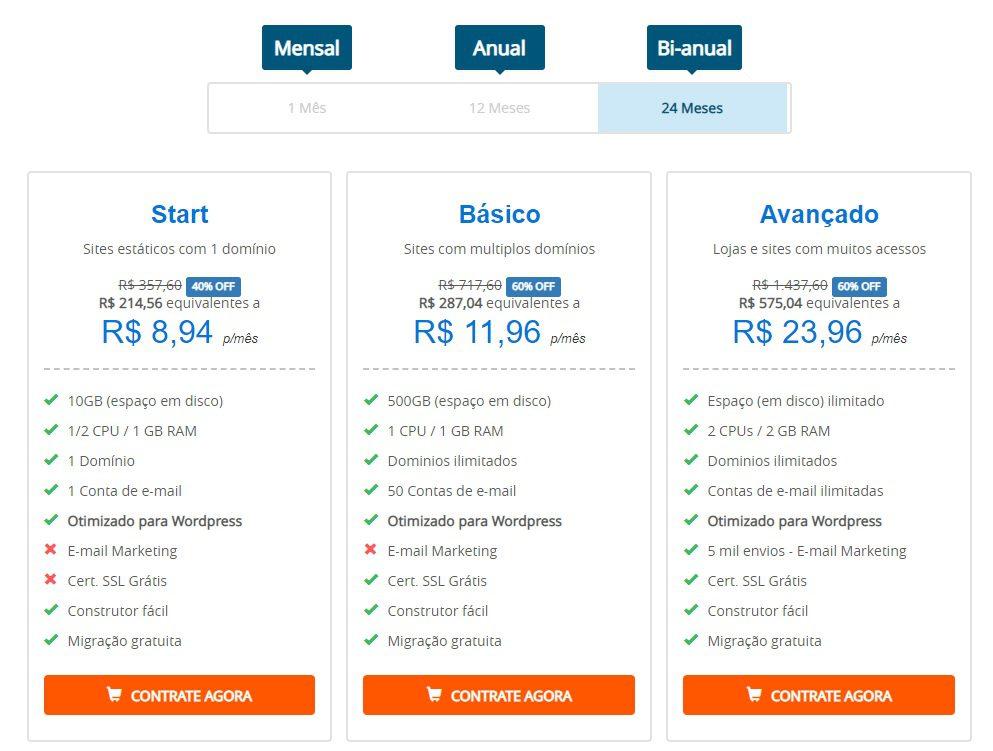 Planos de Hospedagem HomeHost para sua Loja Virtual E-Commerce