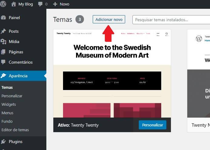 Instalação de Tema para o site de Classificados WordPress
