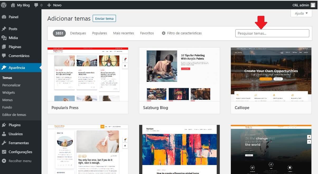 Pesquisa de Tema para o site de Classificados WordPress