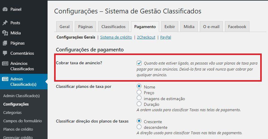 Adicionando Opções de Anúncios Pagos ao Site de Classificados WordPress