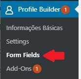 Configurando os Campos do Formulário de Cadastro do Site
