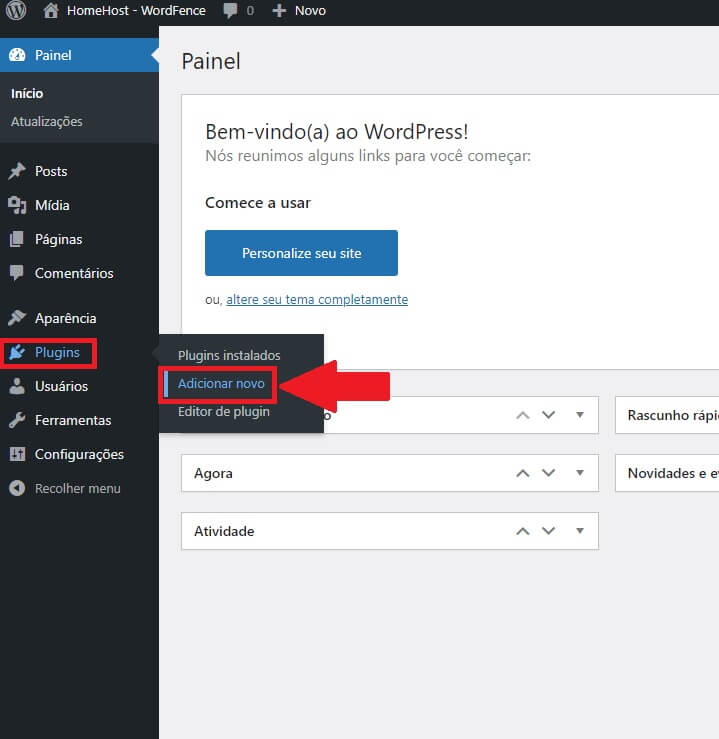 Adicionar Novos Plugins no WordPress